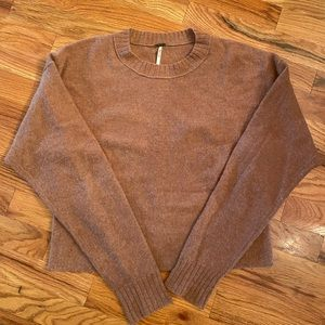 Free People Brown Cashmere Sweater Size XS